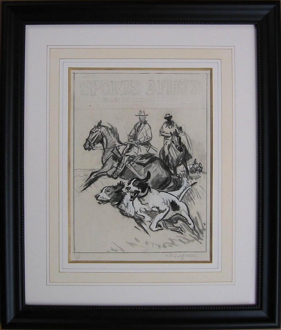 D 3002 Hunt Drawing by  Robert Lougheed - Masterpiece Online