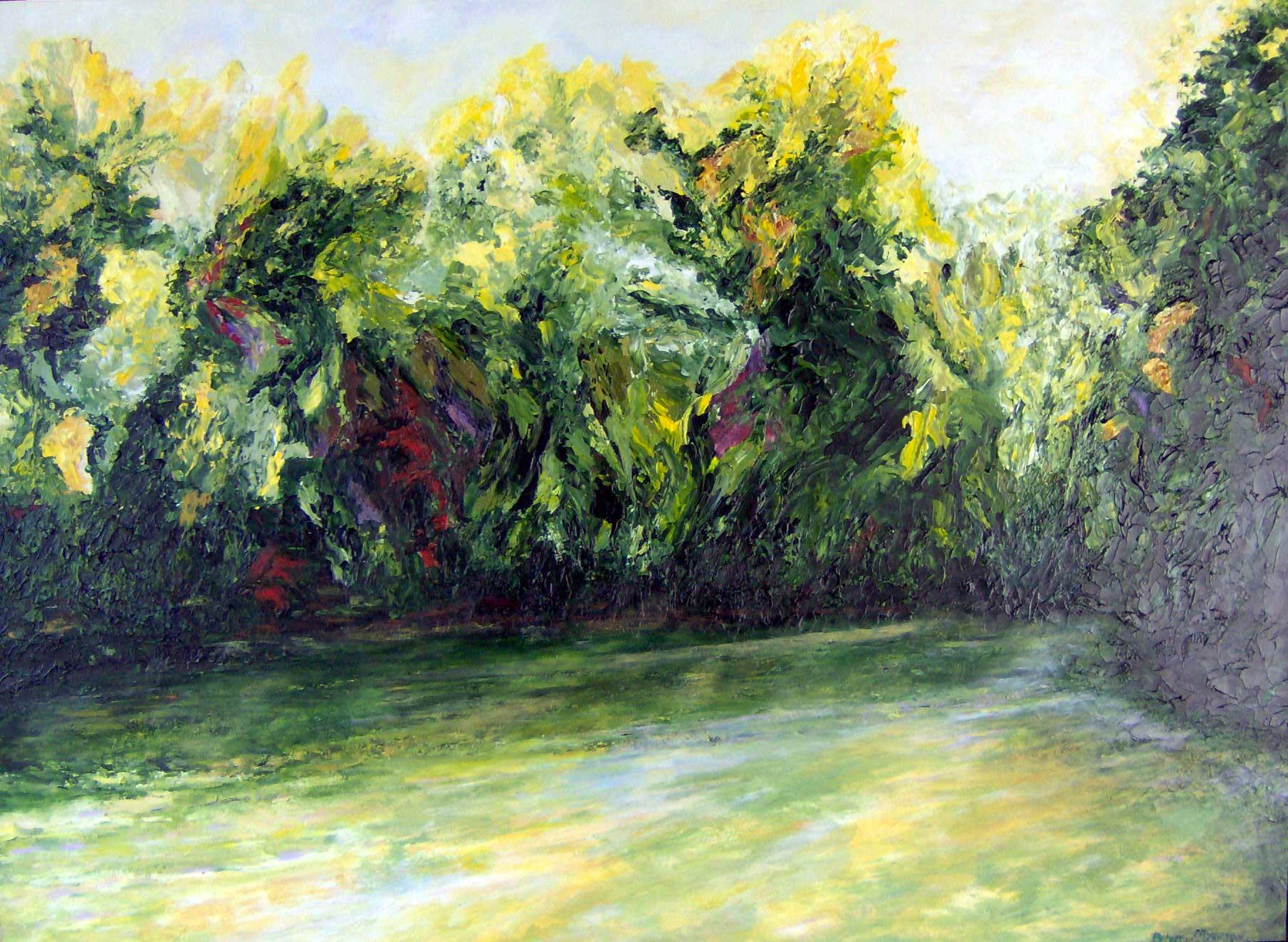 Trees Around Loch Rav... by  Peter Myerson - Masterpiece Online