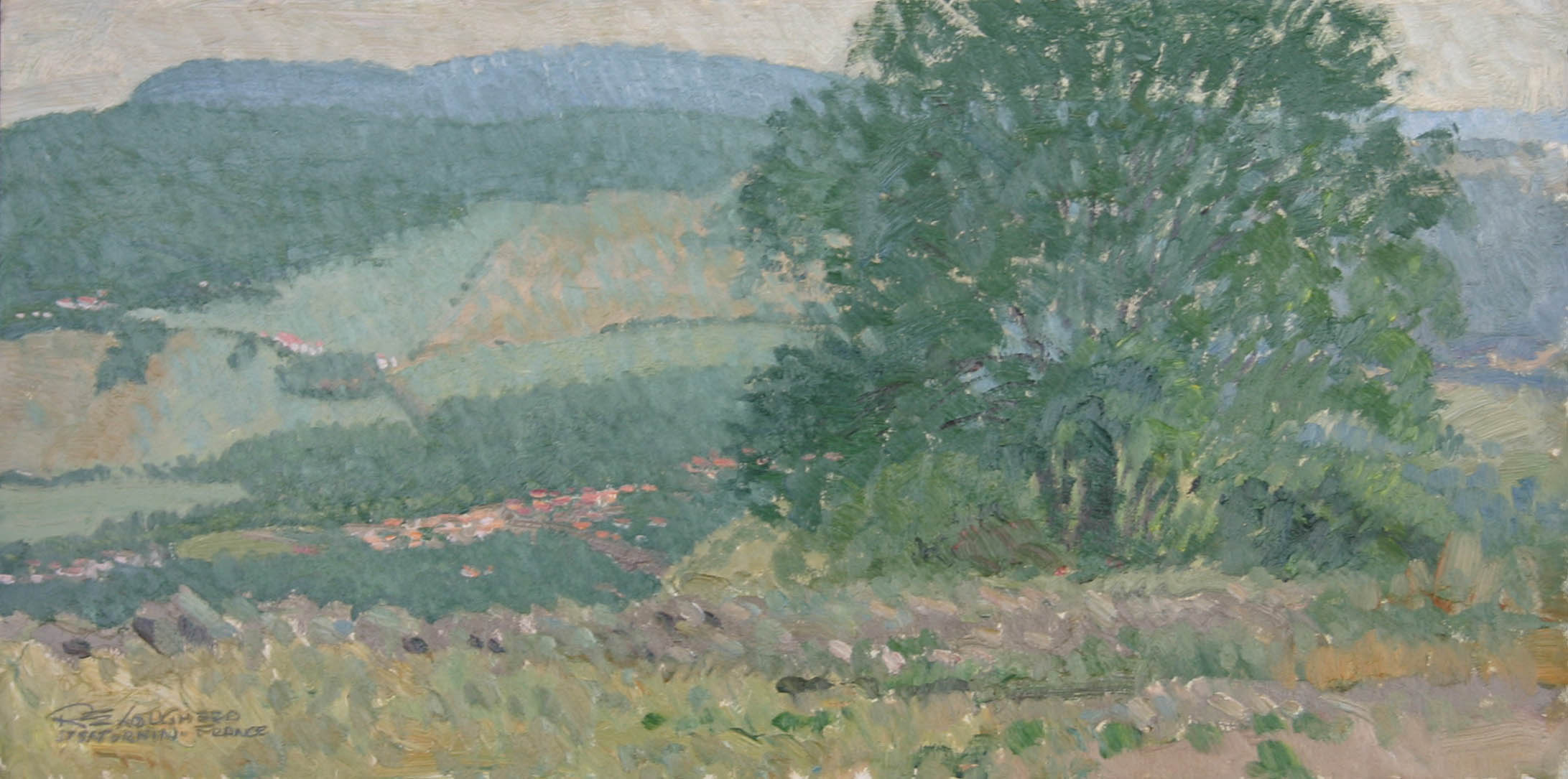 Village in Green Vall... by  Robert Lougheed - Masterpiece Online