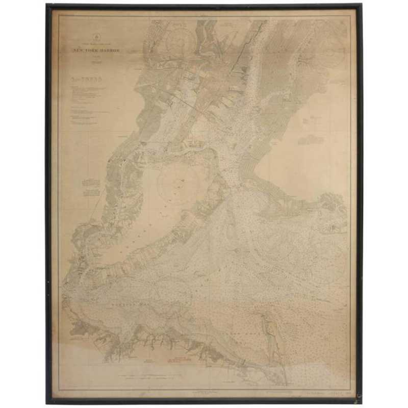 Framed Vintage Map of... by  American  - Masterpiece Online
