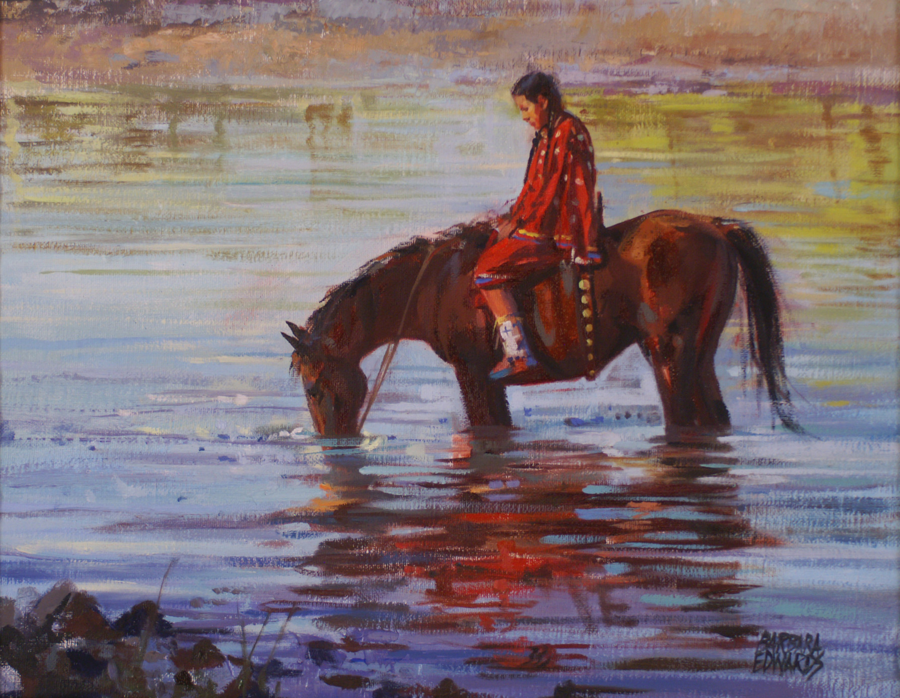 SOLD- Reflected Crim...  by  Barbara Summers Edwards