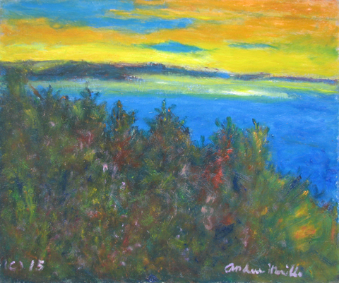 View of Sun Setting o... by  Andres  Morillo - Masterpiece Online