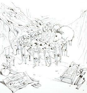 Mice On Hamlets Tea P... by  John A. Rowe - Masterpiece Online