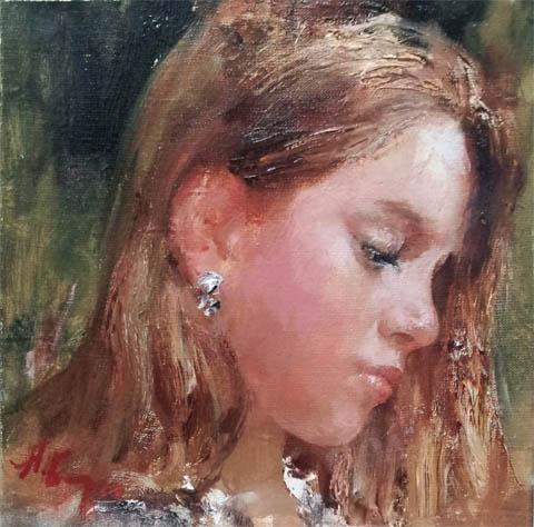 Anna's Portrait by  Nikolai  Blokhin  - Masterpiece Online