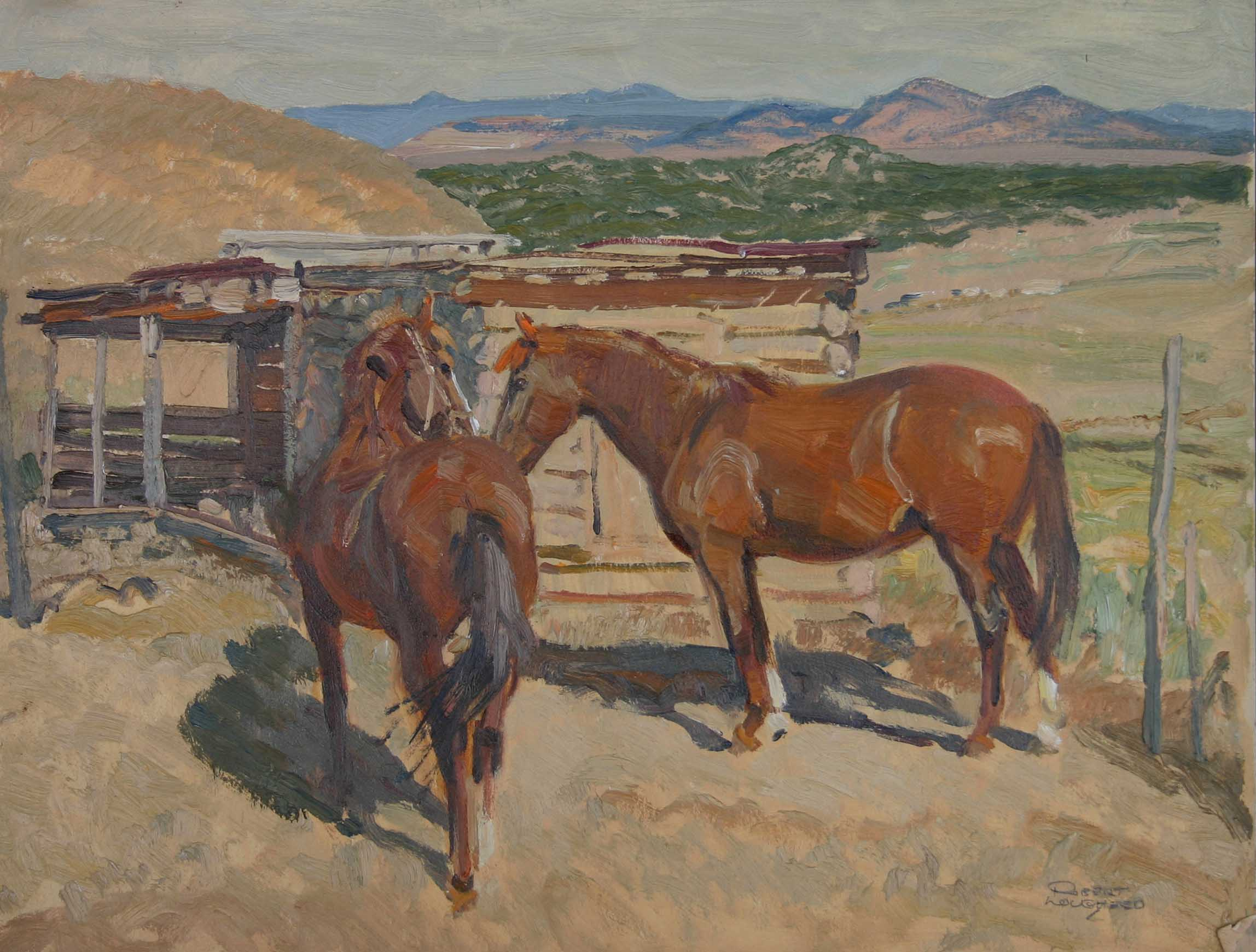 New Mexico - Horses by  Robert Lougheed - Masterpiece Online