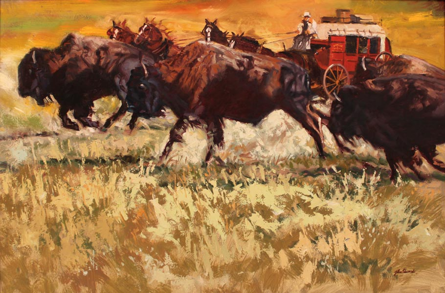 Running with the Buf... by  Glen Edwards - Masterpiece Online
