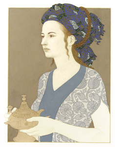 Woman Holding Jar  by  Andren And Olga Dugin