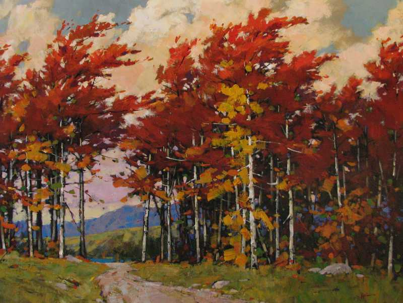 Autumn Landscape by  Min Ma - Masterpiece Online