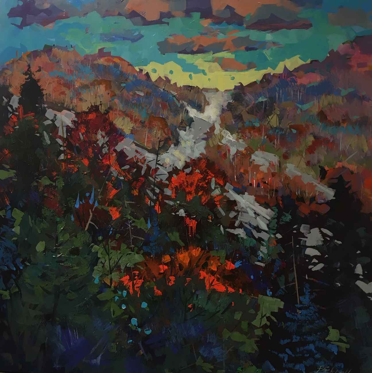 Autumn the Blue Mount... by  Brian Buckrell - Masterpiece Online