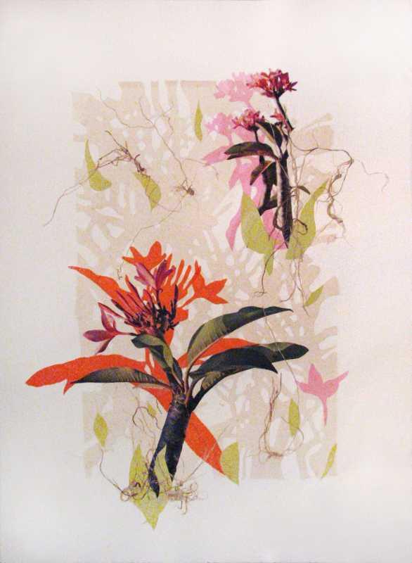 Plumeria Collage 3 by  Margo Ray - Masterpiece Online