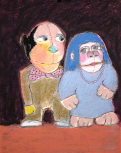 Monkey Couple by    - Masterpiece Online