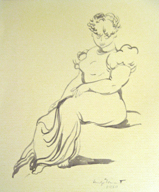 Hawaiian Lady Sitting... by  Madge Tennent (1889-1972) - Masterpiece Online