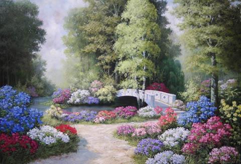 The Garden Splendor by  Peter  Motz  - Masterpiece Online