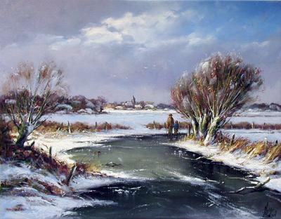 Winter River by  Nanne  Balyon  - Masterpiece Online