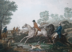 The Fox Chase by  Carle Vernet - Masterpiece Online