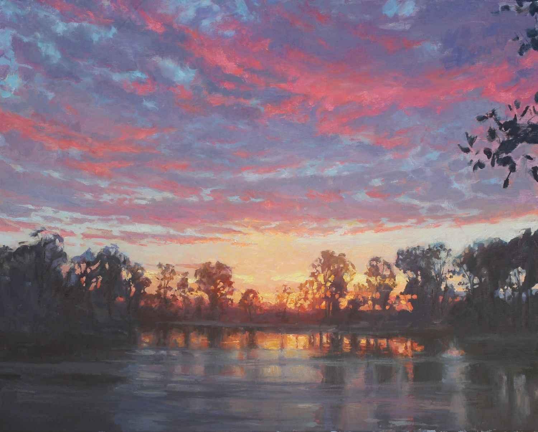 Crimson Canopies by  Susan Diehl - Masterpiece Online