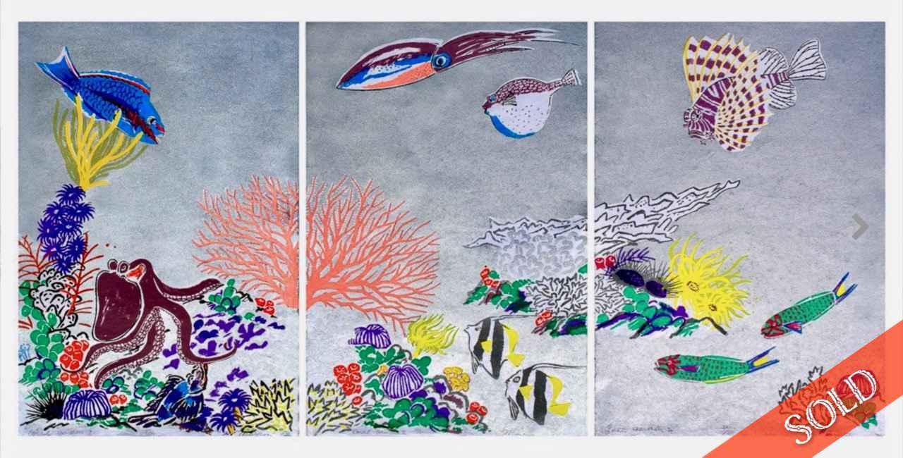 Coral Garden I, II, I... by  Mayumi Oda - Masterpiece Online