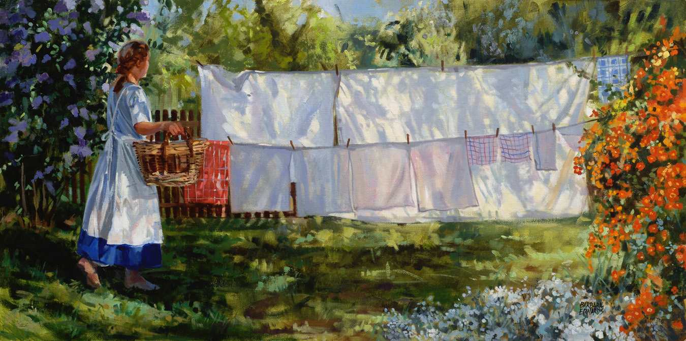 SOLD- Laundry Day by  Barbara Summers Edwards - Masterpiece Online