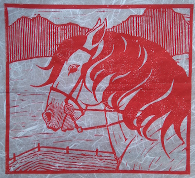 Bocefalus Red by  Melissa Hefferlin - Masterpiece Online