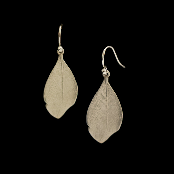 Feather Silver Wire Earrings