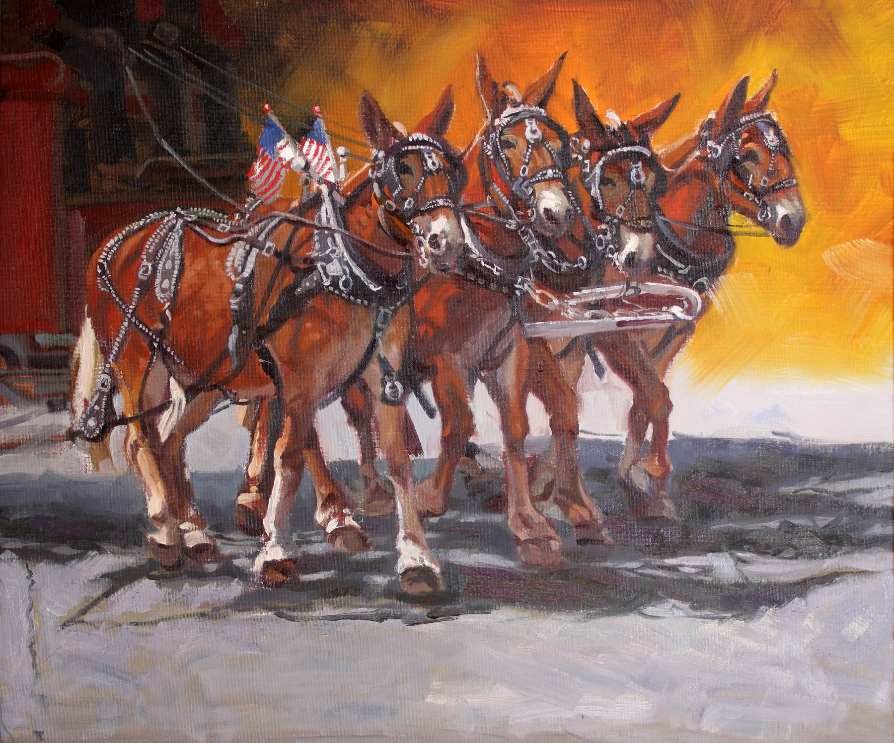Pulling With Four by  Glen Edwards - Masterpiece Online