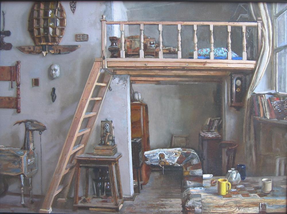 Studio of an Artist a... by  Daud Akhriev - Masterpiece Online