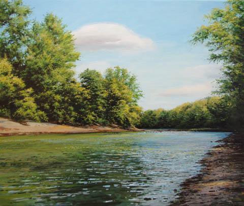 Genesee River - Augus... by  Michael Wheeler - Masterpiece Online