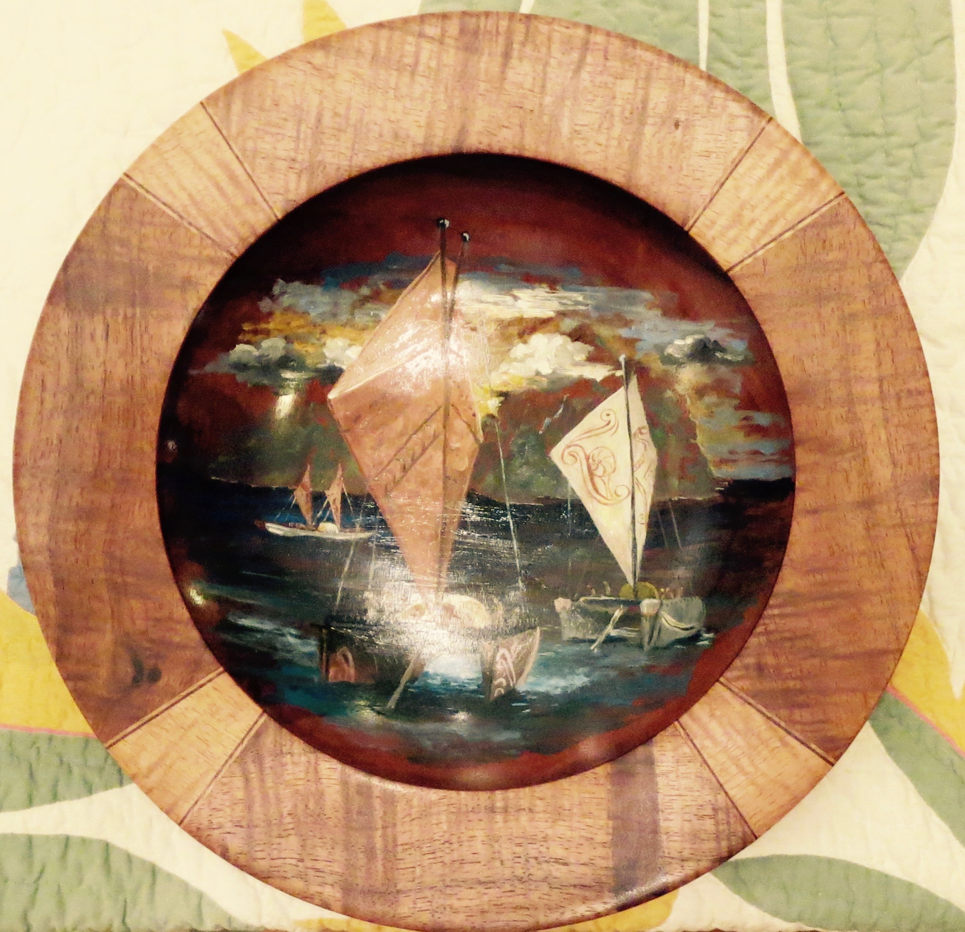 Koa Platter with Robe... by Mr. Timothy Shafto - Masterpiece Online