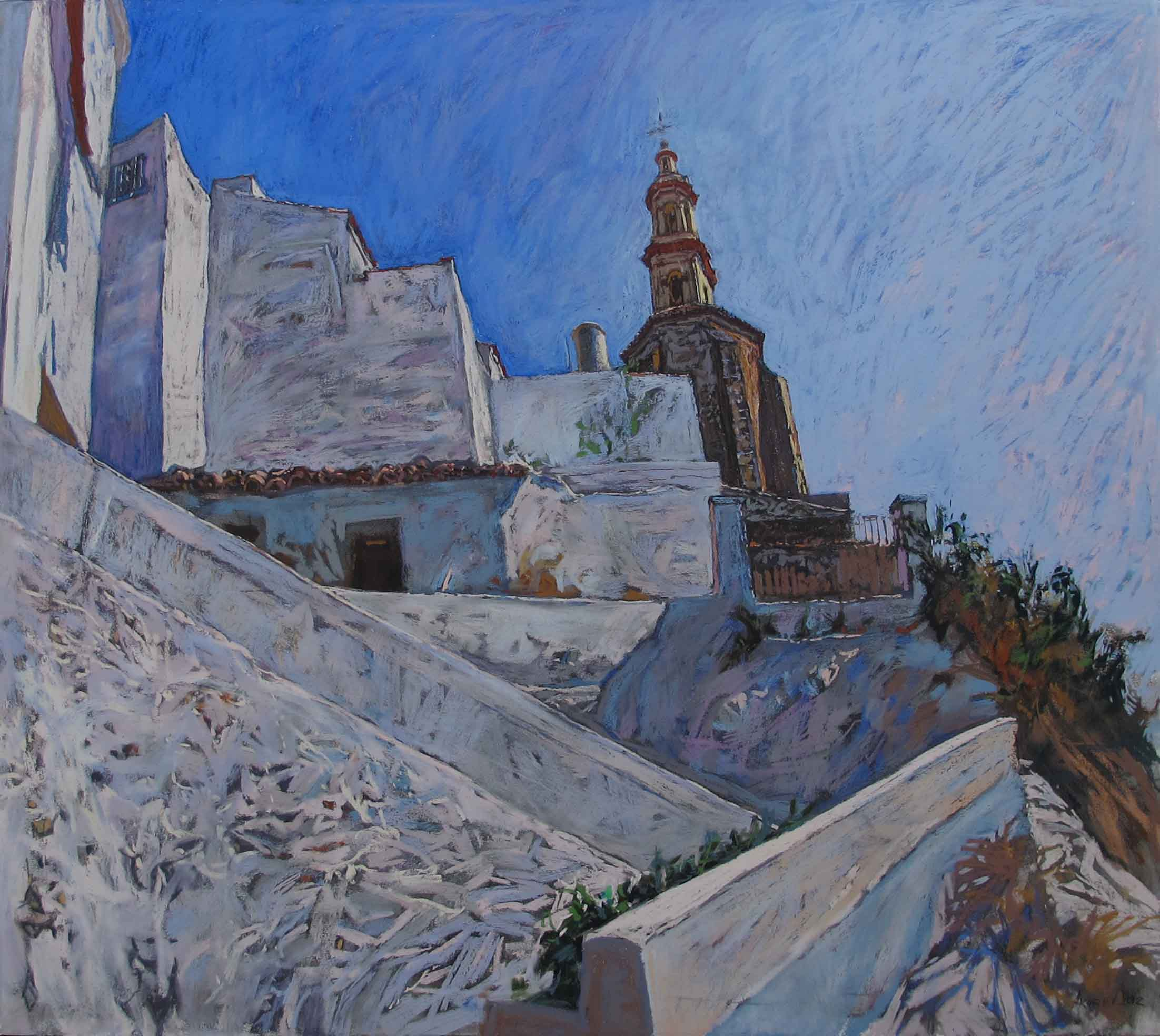 Steps to the Church by  Daud Akhriev - Masterpiece Online