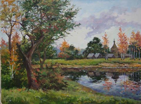 Late Summer Dachas by   Kuzin - Masterpiece Online