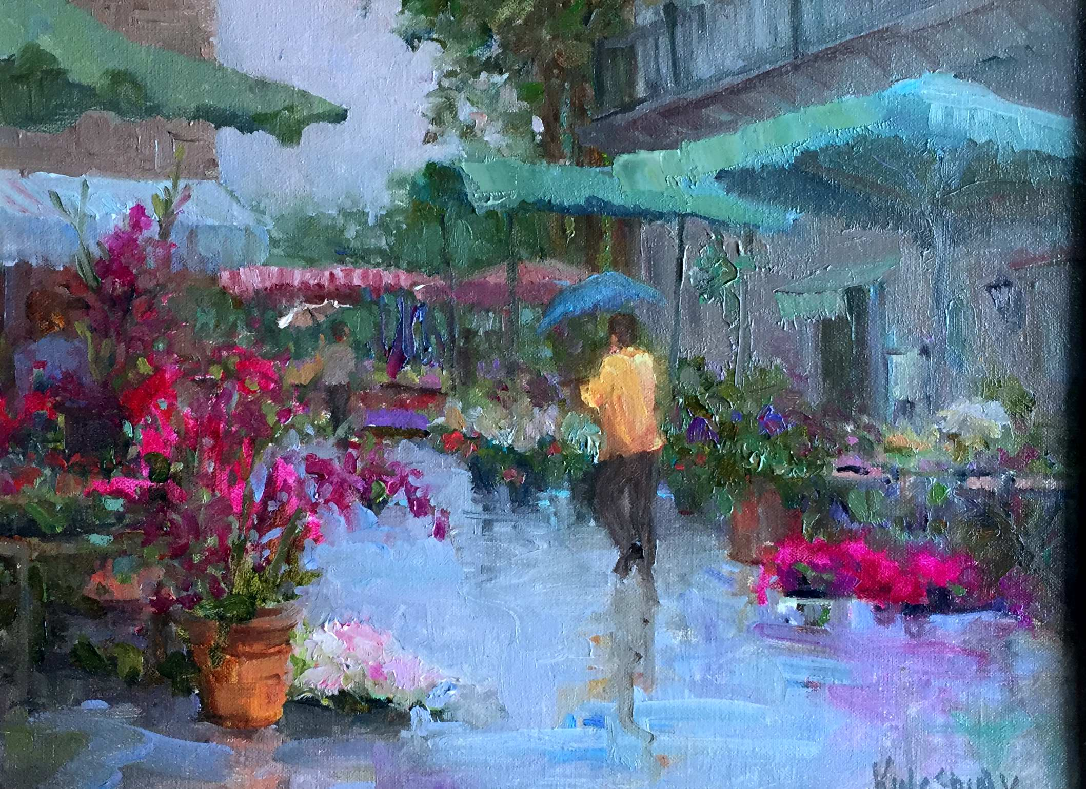 Rainy Day Flowers by Ms Peggy Kingsbury - Masterpiece Online