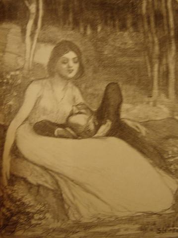 CHANSONS DE FEMMES - ... by  Alexandre Theophil Steinlen - Masterpiece Online