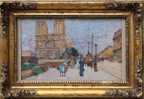 Notre Dame Quai Saint...  by  E. Galien Laloue