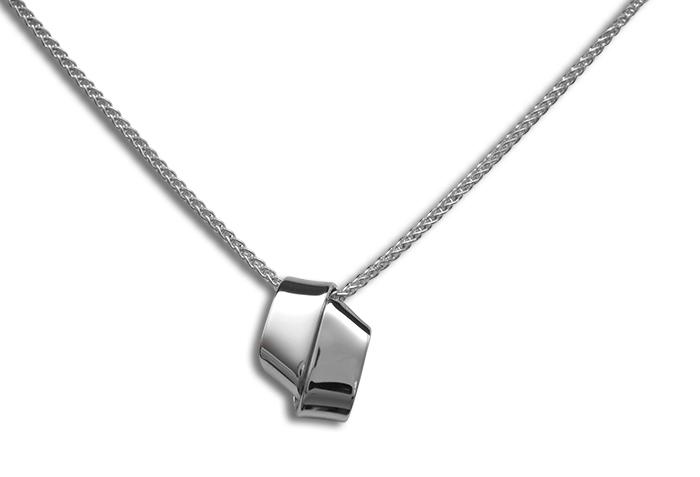 Love Knot Necklace Sterling Sliver 18
