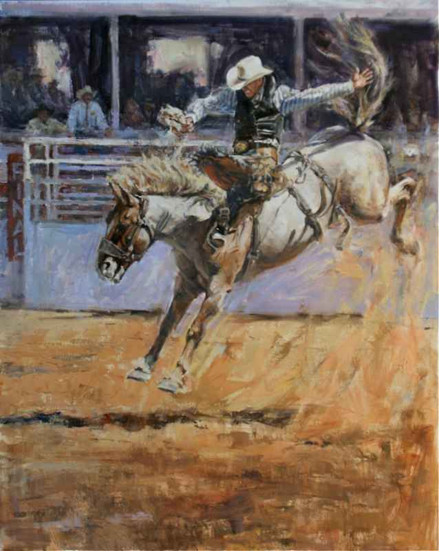 Saddlebronc by  John Austin Hanna - Masterpiece Online