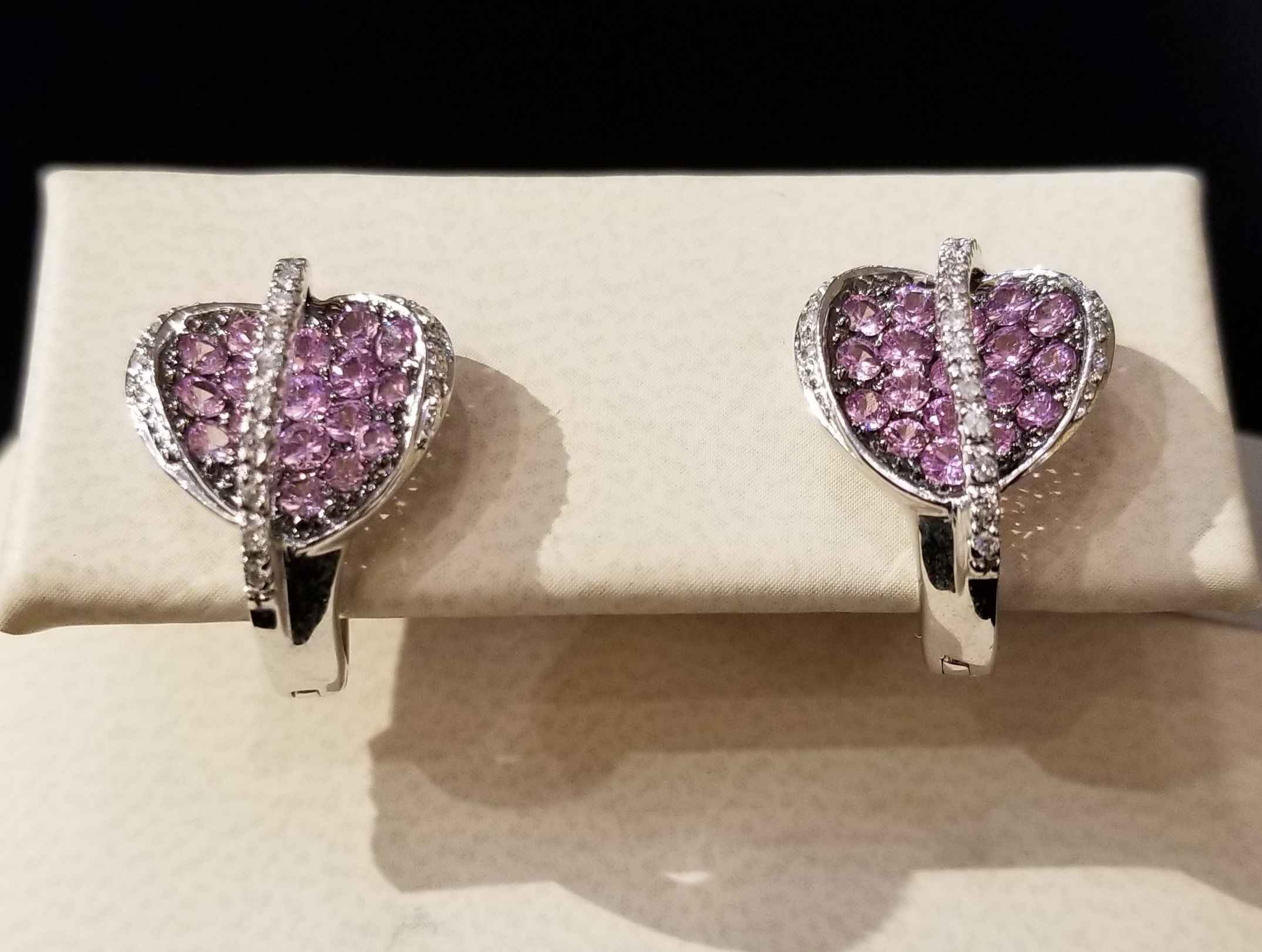 Pink Sapphire Earings... by  My Jeweler - Masterpiece Online