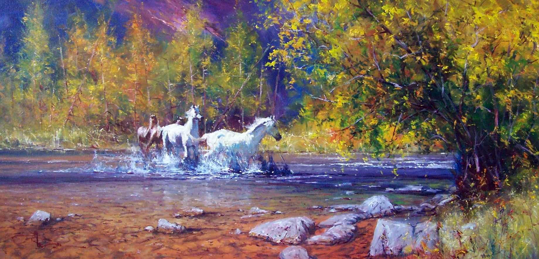Morning Run (hagan) by  Robert Hagan - Masterpiece Online