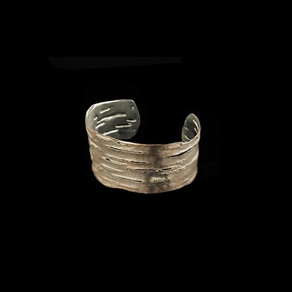 Birch Cuff Bracelet - Pink Silver