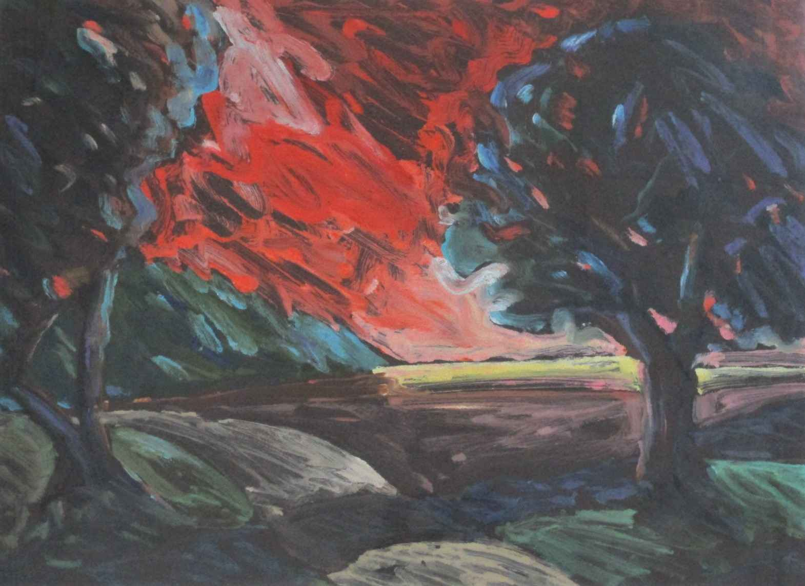 Untitled (red sunset) by  Cie Goulet - Masterpiece Online