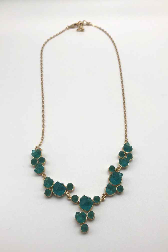 Crystal Multi Rounds with Drop Necklace 17