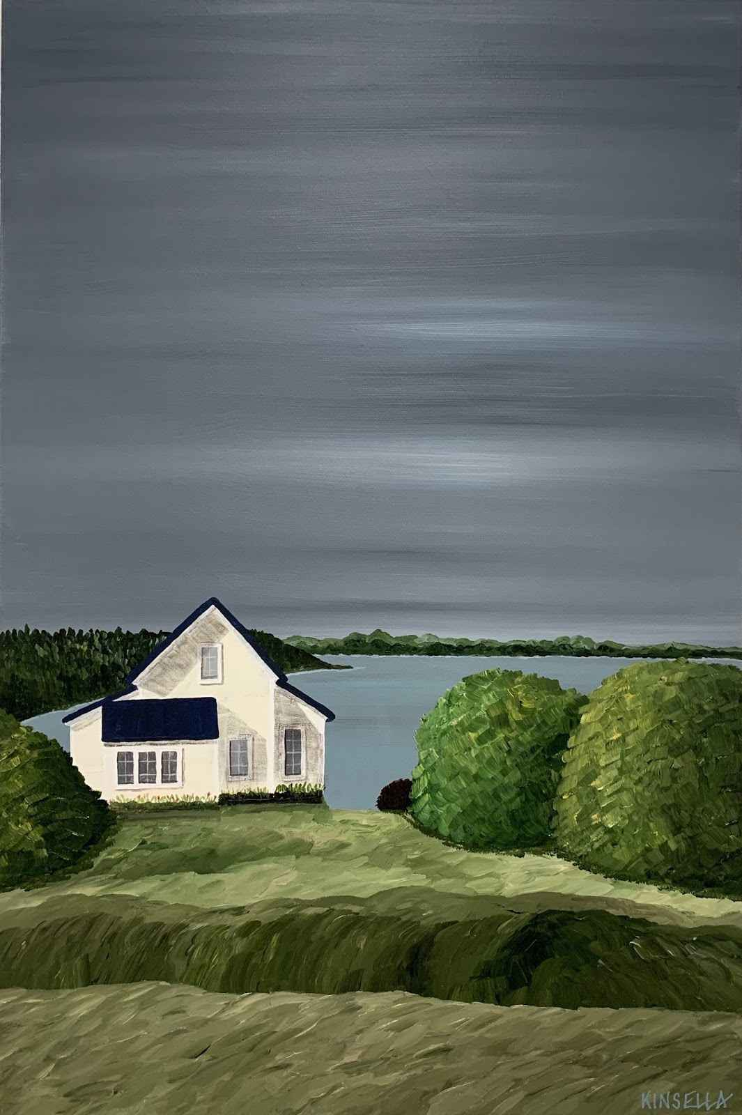 Cottage on Quiet Lake  by  Susan Kinsella