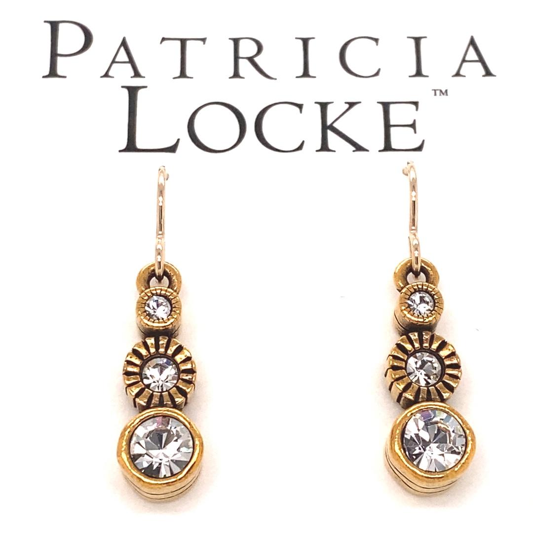 Sprite Earrings in Gold, All Crystal