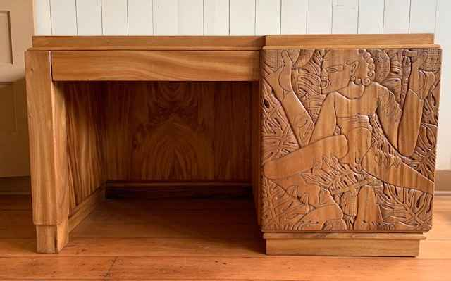 Blasingame Carved Desk by  Marguerite Blasingame (1906–1947) - Masterpiece Online