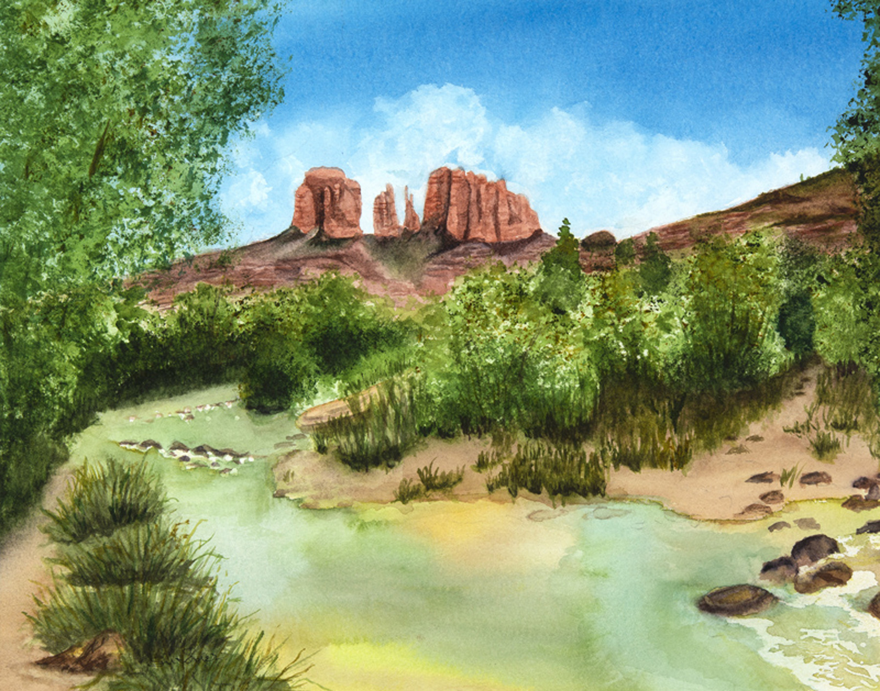 Cathedral Rock by  Sue Emer - Masterpiece Online