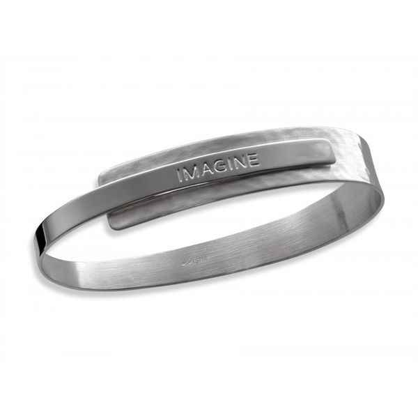 Sentiment Bracelet Sterling Silver Imagine