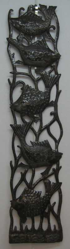 Two Fish Metal Panel by Mr. Bazil Justin - Masterpiece Online