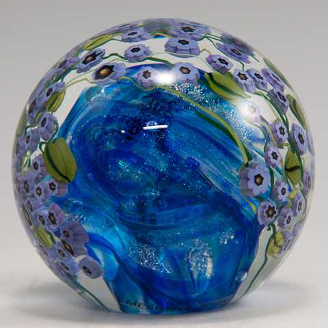 Paperweight/Violets by  Shawn Messenger - Masterpiece Online