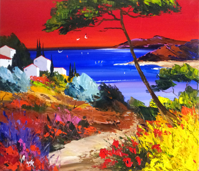 After Sunset by  Louis  Magre - Masterpiece Online