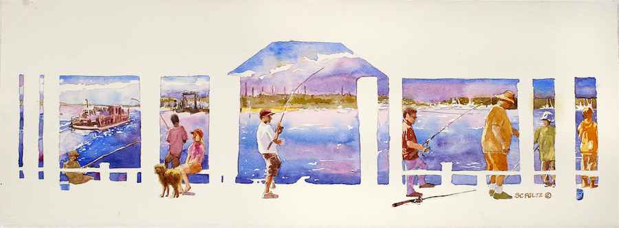 Edgartown Wharf by  Susan Convery - Masterpiece Online