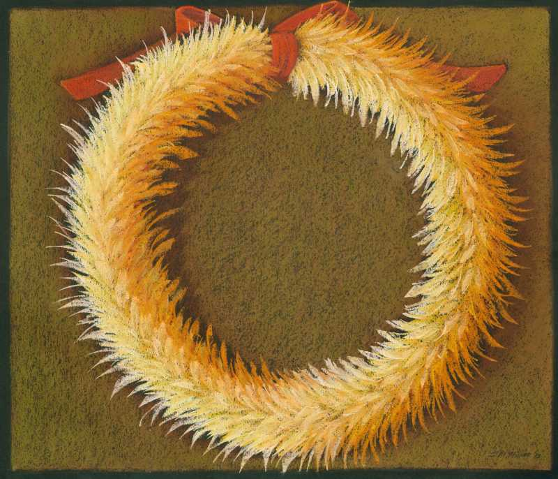 Round Feather Lei 5 by  Shelley S. M. Miller - Masterpiece Online